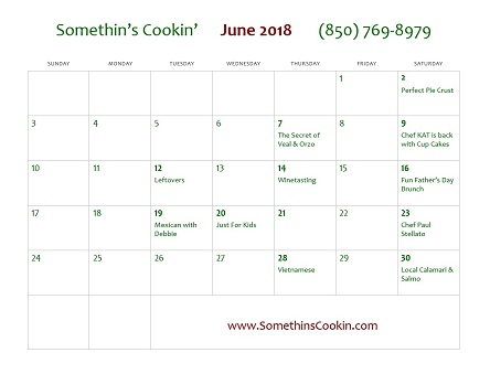 June 2018 Calendar of Events